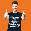 Picture of SOCIAL DISTANCING TEAM ADULTS NAVY BLUE T-SHIRT 50% DONATED