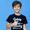 Picture of SOCIAL DISTANCING TEAM CHILDRENS NAVY BLUE T-SHIRT 50% DONATED