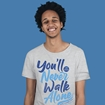 Picture of YOU'LL NEVER WALK ALONE ADULTS HEATHER GREY T-SHIRT 50% DONATED