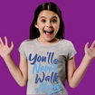 Picture of YOU'LL NEVER WALK ALONE CHILDRENS HEATHER GREY T-SHIRT 50% DONATED