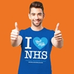Picture of I LOVE THE NHS ADULTS ROYAL BLUE T-SHIRT 50% DONATED