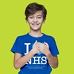 Picture of I LOVE THE NHS CHILDRENS ROYAL BLUE T-SHIRT 50% DONATED