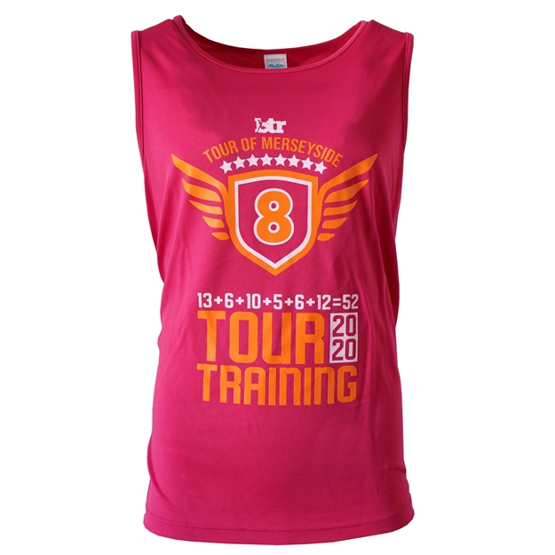 Picture of Unisex TOUR OF MERSEYSIDE 2020 Ultra Cool Vest in Pink