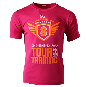 Picture of Unisex TOUR OF MERSEYSIDE 2020 Ultra Cool T-shirt in Pink