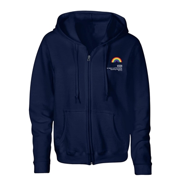 Picture of NAVY BLUE UNISEX ZIP HOODY PRE-ORDER AVAILABLE UNTIL THE 5TH OF MARCH, DISPATCH OF ORDER W/C 8TH OF MARCH