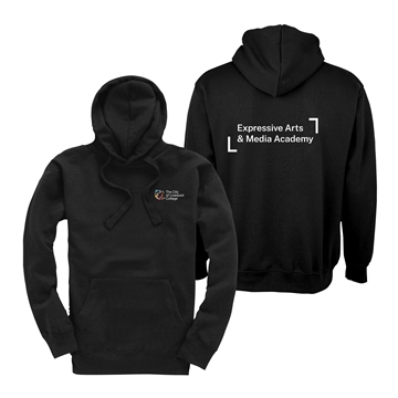 Picture of Liv College Classic Black Hooded Sweatshirt AVAILABLE FOR PREORDER UNTIL 26.10.21 FOR DELIVERY TO YOU W/C 08.11.21